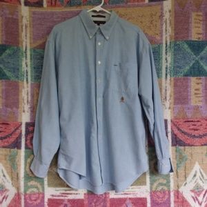Long Sleeved Button Front Chambray Shirt